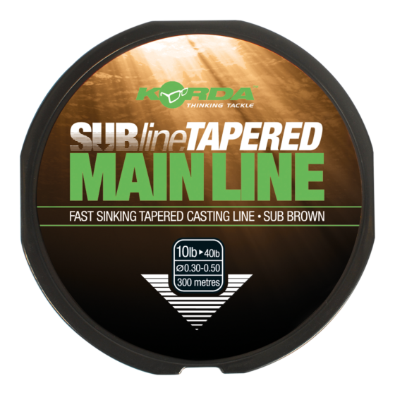 Subline tapered mainline 0.30-0.50mm brown